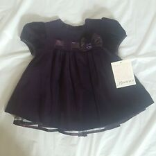 Bonnie Baby Girl Purple Dress Church Party Holiday Size 12 Months New 416