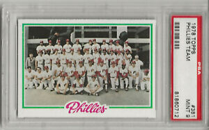 1978 TOPPS #381 PHILLIES TEAM, PSA 9 MINT,  STEVE CARLTON, L@@K