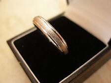 GENTS 9 CARAT WHITE GOLD 5MM HEAVY COURT WEDDING / DRESS RING MADE BY B & N BNIB