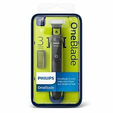 PHILIPS ONE BLADE QP2520/25 + 3 STUBBLE COMBS ONE BLADE TO TRIM EDGE AND SHAVE