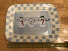 Snowman Serving Tray - Crate & Barrel