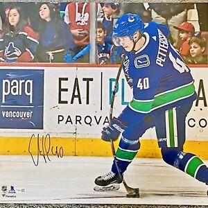 HUGE 16x20 Elias Pettersson Autographed CASED PHOTO🔥 FANATICS AUTHENTICATED COA