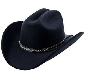 MEN'S BLACK  WESTERN COWBOY HAT, THE OLD BERISTAIN LUXURY STYLE, ORMA CALIFORNIA