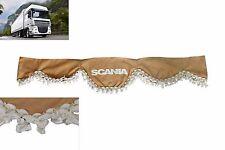 LKW Frontscheibenborde Frontscheibenverzierung Gardine Vorhänge BEIGE für SCANIA