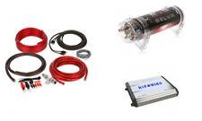 HIFONICS ZXX-1800.1D 1800W Car Amplifier + 4 Gauge Wire Kit + 1 Farad Capacitor