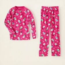 The Children's Place Micro- Fleece Pink Snowman Pajamas Size S 5/6 NWT