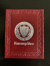 Harvard University Leather Patch- Great Color, Silver Seal, Early 1900's