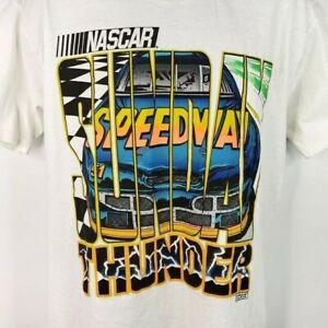 NASCAR Sunday Speedway T Shirt Vintage 90s Thunder Lightning Made In USA Large