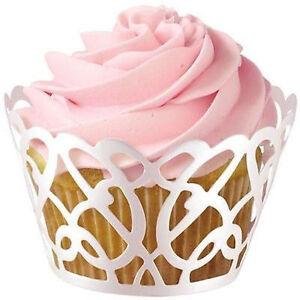 Pearl White Swirls Cupcake Wraps 18 ct from Wilton 0182 NEW