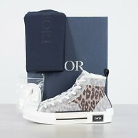 DIOR HOMME 1100$ B23 High Top Sneakers In Brown Leopard Print