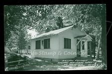 1950's RPPC Balsam Cottage Schram's Red Cedar Lodge Jenkins MN Old Car  B1070