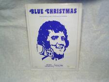 BLUE CHRISTMAS SHEET MUSIC Billy Hays and Jay Johnson bibo music,elvis presley