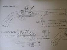 Harpers Ferry army military FLINTLOCK Gunsmith Plans Drawing Pistol Black Powder