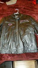 Affliction Black Premium RECKLESSNESS PU Leather Men Biker Jacket SIZE MEDIUM