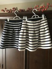 Gap ~ Two (2) Striped Bubble Skirts ~ Navy Blue and Cream ~ Medium ~ Cute!!!