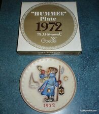 "Goebel Hummel 1972 Hand Painted ""Hear Ye, Hear Ye"" Annual Plate - 2nd in Series"