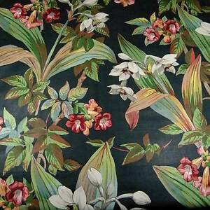 """56"""" W Gorgeous Tropical Print by Paul Ramm Home Decor Polished Cotton Per 1/2 Yd"""