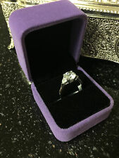 2Ct Round Cut Diamond Engagement Ring White Gold Toned Bridal Ring Size 7.5