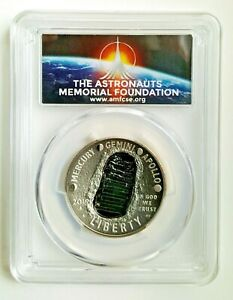 2019 S  Apollo11 50th Anni Proof Half Dollar PCGS PR69DCAM First Day Of Issue