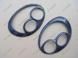 Carbon Fiber Headlight Eyebrows Eyelids Covers for 2002-2003 Subaru Impreza WRX