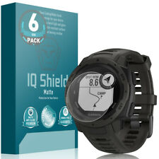 6x IQ Shield Matte Anti-Glare Screen Protector for Garmin Instinct
