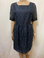 Gorman Dress Women ~ Size 12 ~ Great Cond Geometric Cut Out Design Sheer Sleeves