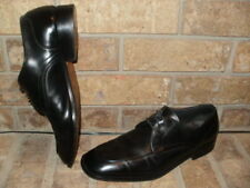 Bally Switzerland Oronis Black Leather Derby Oxford 9.5 D /Made Italy/Nice!