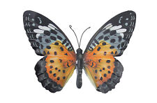 Large Metal Butterfly Orange and Black Outdoor Garden Home Decoration Wall Art