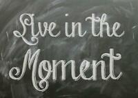Motivation Live in The Moment Quote Art Giant Poster - A5 A4 A3 A2 A1 A0 Sizes