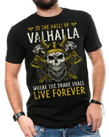 Viking T-shirt Viking Warrior T-shirts Cool Vikings Shirt Skull T-shirt Valhalla