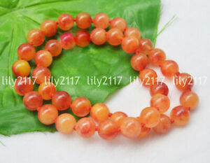 24'' Beautiful 10mm Natural Multi-Color Jade Gems Round Beads Necklace No Clasp