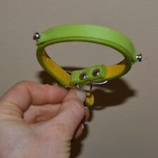DOGO Green Leather Collar Size X Small Brand New