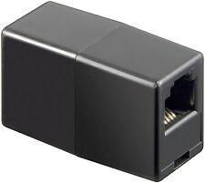 Black RJ11  ADSL Cable Coupler bt,virgin,plusnet,sky joiner broadband dsl