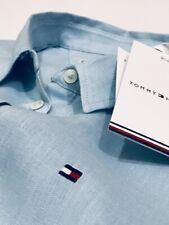 Tommy Hilfiger Women's Casual Linen Shirt  (BLUE)    RRP £75