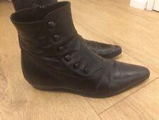 DIOR HOMME Hedi Slimane black leather boots UK size 6 fits 7 euro 40 fits 41