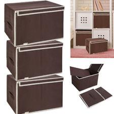 3x Aufbewahrungsboxen mit Deckel faltbar Schublade Organizer Stoffbox Regalkorb