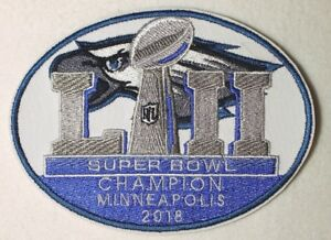 Superbowl 52 Champion Philadelphia Embroidered patch -Free Ship  tracking number