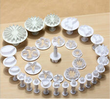 33 PCS Plunger Fondant Cutters Cake Tools Flower Set Biscuit Cookie Mold