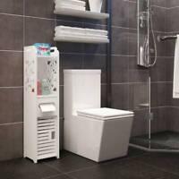 Modern Wooden Bathroom Shelf Cabinet Cupboard Bedroom Storage Unit Free Standing
