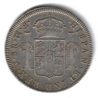 1772 Inverted F. M.! CAROLUS III MEXICO SILVER 8 EIGHT REALES COIN 27g KM# 106.1