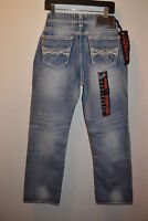 Rock Roll Cowboy Jeans Light Wash Denim Relaxed Fit Boot Cut NWT M0S3181 34x36