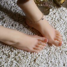 Realistic Silicone Displays Mannequin Foot Skinny Simulation Sock One Left Feet