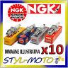KIT 10 x CANDELE D'ACCENSIONE NGK SPARK PLUG B10EG STOCK NUMBER 3630