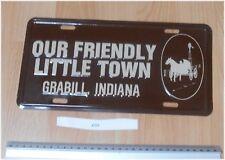 USA Notre Sympathique petite ville grabill licence/license Tag Plaque