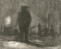 H. Cadwell - 20th Century Etching, Laid Off