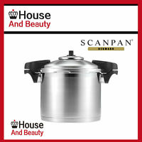 NEW Scanpan Stainless Steel Pressure Cooker W/Side Handles 22cm / 24cm Save OZ