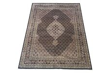 "8X11 Wool & Silk Fish Design Area Rug Hand-Knotted Oriental Carpet (8'3"" x 11'5"""