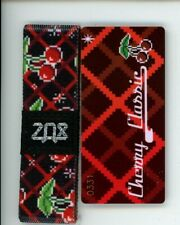 Medium ZOX Silver Strap CHERRY CLASSIC Wristband with Card Reversible White Star