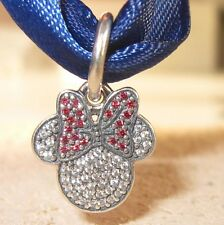 CRYSTAL MINNIE EARS .925 Sterling Silver European Charm Bead DS4