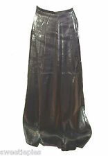 Skirt vintage 1980s, Le Chateau, Metallic-Gray-silver-pewt er Long 7